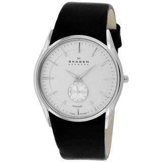 Skagen Men's 808XLSLBC Black Label Round Black Strap Watch