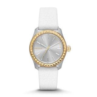 Diesel Women's DZ5410 'Kray Kray' White Leather Watch
