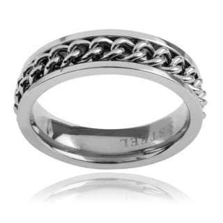 Vance Co. Men's Stainless Steel 6 mm Spinner Band