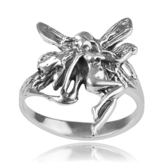Journee Collection Sterling Silver Fairy Ring