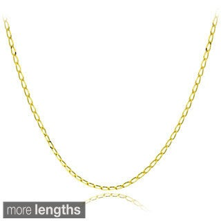 Mondevio 14k Gold 1.5mm Cuban Link Chain