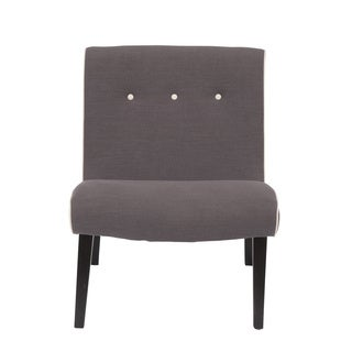Aurelle Home Light Grey Lounge Chair (Set of 2)