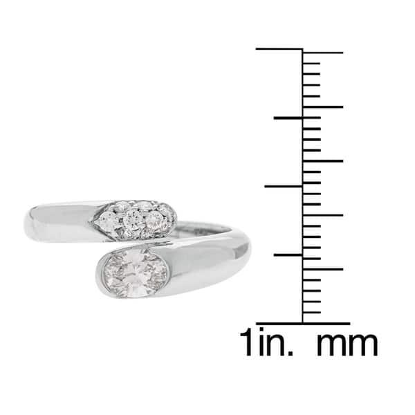 6c0ef7b568ac2 Shop Bvlgari Astrea 18k White Gold 0.95ct TDW Diamond Ring (D-F, VS1 ...
