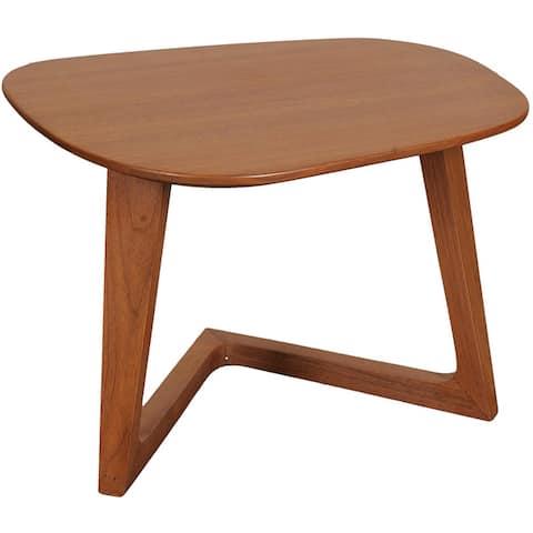 "Aurelle Home Gideon Solid Walnut Modern Accent End Table - 17"" x 24"" x 18.5"""