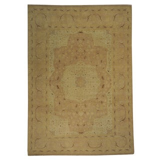 Washed-out Tabriz Wool Hand-knotted Oriental Rug (9' x 12'9)