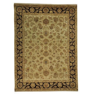 Dense Weave Kashan Wool Hand-knotted Oriental Rug (8'6 x 11'8)