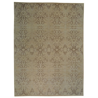 Transitional Oushak Wool Oriental Rug Hand-knotted (9' x 12')
