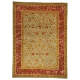 Antiqued Tabriz Dense Weave Wool Oriental Rug (8'10 x 12'2)
