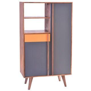 Aurelle Home Cliff Retro Wood Cabinet