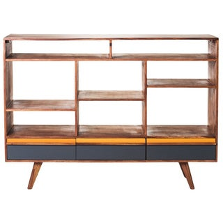 Aurelle Home Mid-century Open Wood Bookshelf