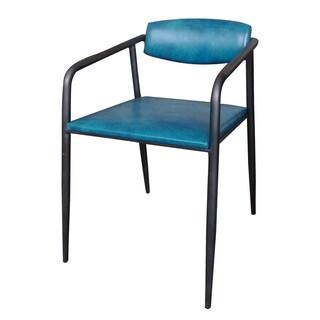 Aurelle Home Bridget Blue Dining Chair (Set of 2)
