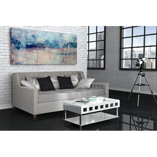 Shop Avenue Greene Jordyn Grey Linen Upholstered Daybed Free