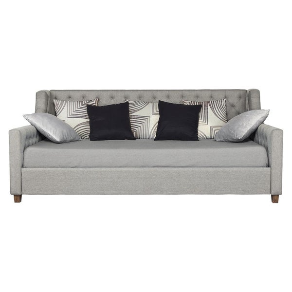 Avenue Greene Jordyn Grey Linen Upholstered Daybed - Free Shipping Today -  Overstock.com - 16970634