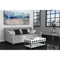 Avenue Greene Jordyn Grey Linen Upholstered Daybed