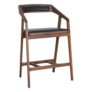 Aurelle Home Solid American Walnut Counterstool