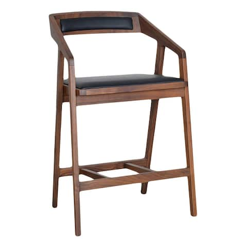 Aurelle Home Pio Modern Solid Wood Counter Stool