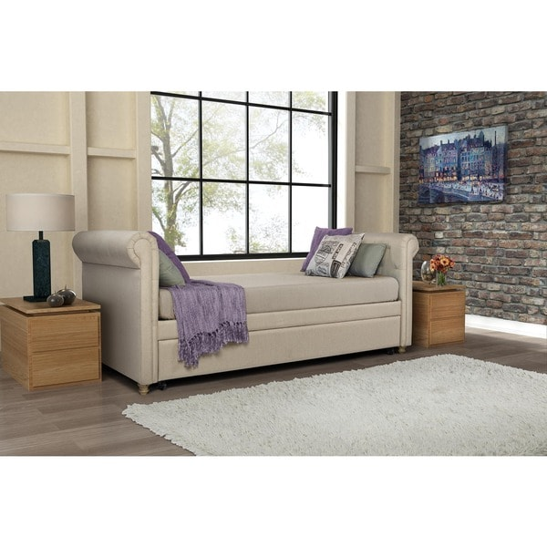 Shop Avenue Greene Sophia Upholstered Trundle Daybed On