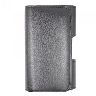 INSTEN Black Premium Horizontal Pouch Phone Case Cover With Belt Loops For Samsung Galaxy Note 4