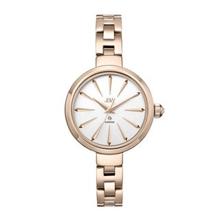 JBW Women's 'Emerald' Diamond Rose Goldtone Watch