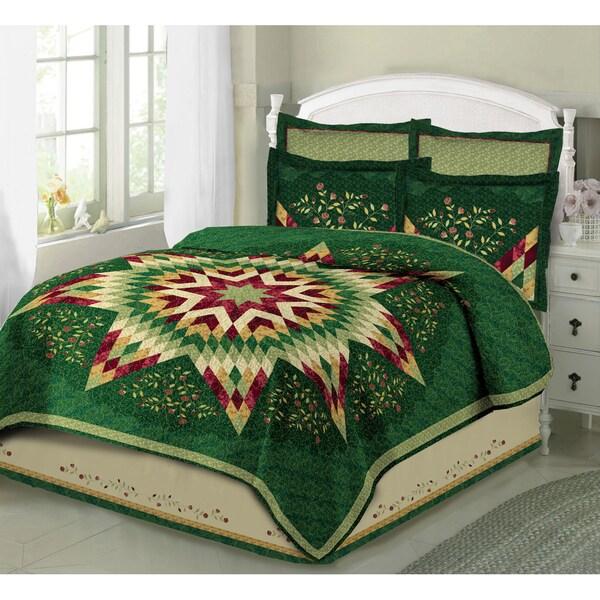 Multicolor 100-percent Cotton Evening Star Quilt