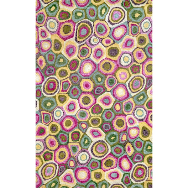 Liora Manne Pink Swirl Pattern Indoor Rug - 3'6 x 5'6
