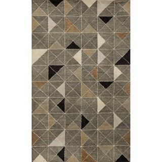 Liora Manne Geometric Grey Pattern Indoor Rug (5' x 8')