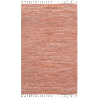 Flatweave Reversible Orange Chenille Area Rug (10' x 14')