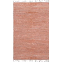 Flatweave Reversible Orange Chenille Area Rug - 10' x 14'