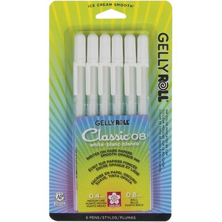 Gelly Roll Classic Medium Point Pens 6/Pkg-White