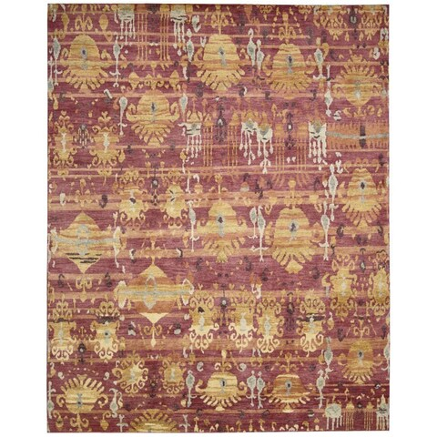 Hand-knotted Dune Flame Wool Area Rug - 12' x 15'