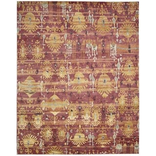Hand-knotted Dune Flame Wool Area Rug (12' x 15')