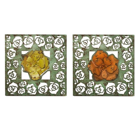 Handmade Floral Cut-Out Panel, Set of 2