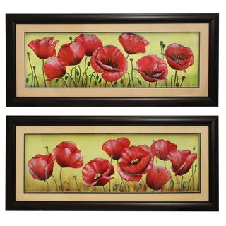 Floral Splendor Framed Wall Art Decor (Set of 2)