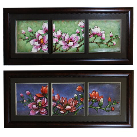 Floral Essence Framed Wall Art Decor (Set of 2)