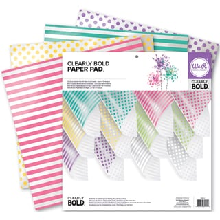 "We R Memory Keepers Acetate Pad 12""X12"" 12/Pkg-Clearly Bold"