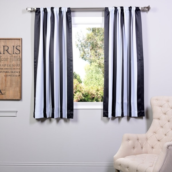 Shop Exclusive Fabrics Awning Black White Stripe 63 Inch Blackout