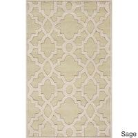 """Hand-Tufted Schmit Geometric Indoor Area Rug - 3'3"""" x 5'3"""""""