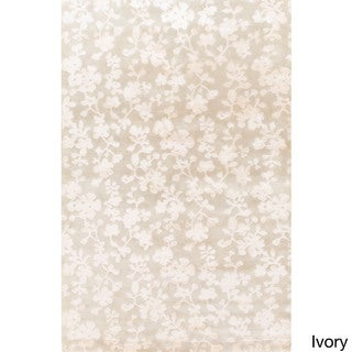 Hand-Knotted Rodney Floral Pattern Rug (5' x 8')