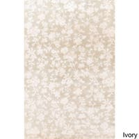 Hand-Knotted Rodney Floral Pattern Area Rug - 5' x 8'