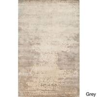 Hand-Knotted Shiloh Abstract Pattern Area Rug (5' x 8') - 5' x 8'
