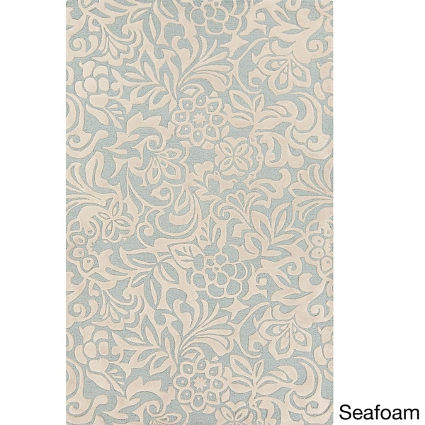 Hand-Tufted Sidney Floral Pattern Area Rug - 8' x 11'