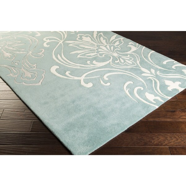 Hand-Tufted Noreen Damask Pattern Area Rug - 9' x 13'
