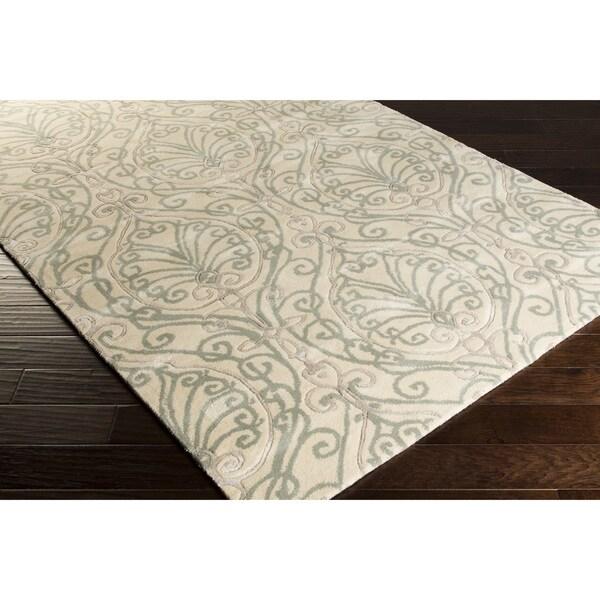 Hand-Tufted Reuben Damask Pattern Area Rug - 9' x 13'