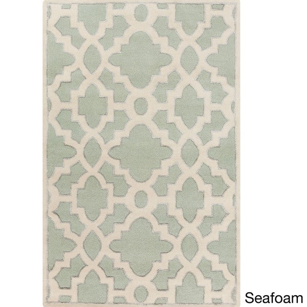 Hand-Tufted Schmit Geometric Indoor Area Rug - 2' x 3'