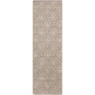 Hand-Tufted Nicole Damask Pattern Rug (2'6 x 8')