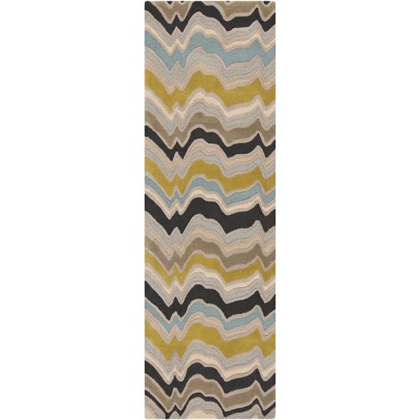Hand-Tufted Peyton Stripe Pattern Area Rug