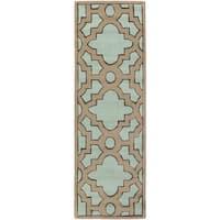 Hand-Tufted Schmit Geometric Indoor Area Rug (2'6 x 8') - 2'6 x 8'