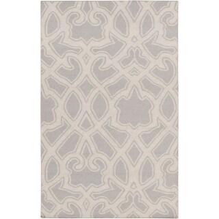 Hand-Woven Aliana Damask Wool Rug (2' x 3')