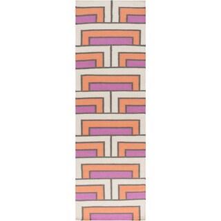 Hand-Woven Alexia Wool Rug (2'6 x 8')