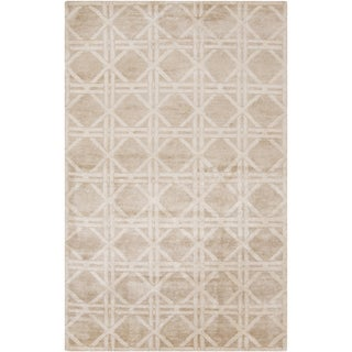 Hand-Knotted Mia Contemporary Rayon from Bamboo Area Rug